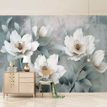 Custom Photo Wallpaper Painting 3D Stereo Flowers Wall Murals Living Room Sofa TV Background Wall Paper Modern Home Decor Room 2pic set paris city landmarks and cars modern painting hd prints on canvas wall art for living room canvas printings home decor