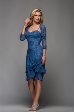 Royal Blue Mother Of The Bride Dresses Long Tiered Groom Tea Length Dress For Weddings Outfits