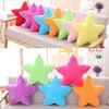 45cm Star Shape Soft Plush Pillow PP Cotton Stuffed Plush Toy Colorful Room Decoration Girls Birthday
