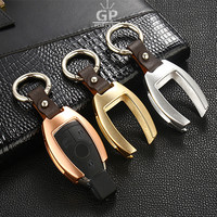 Aluminium Alloy Car Key Bag Case Cover Key Shell Holder Chain For Mercedes Benz Accessories W203