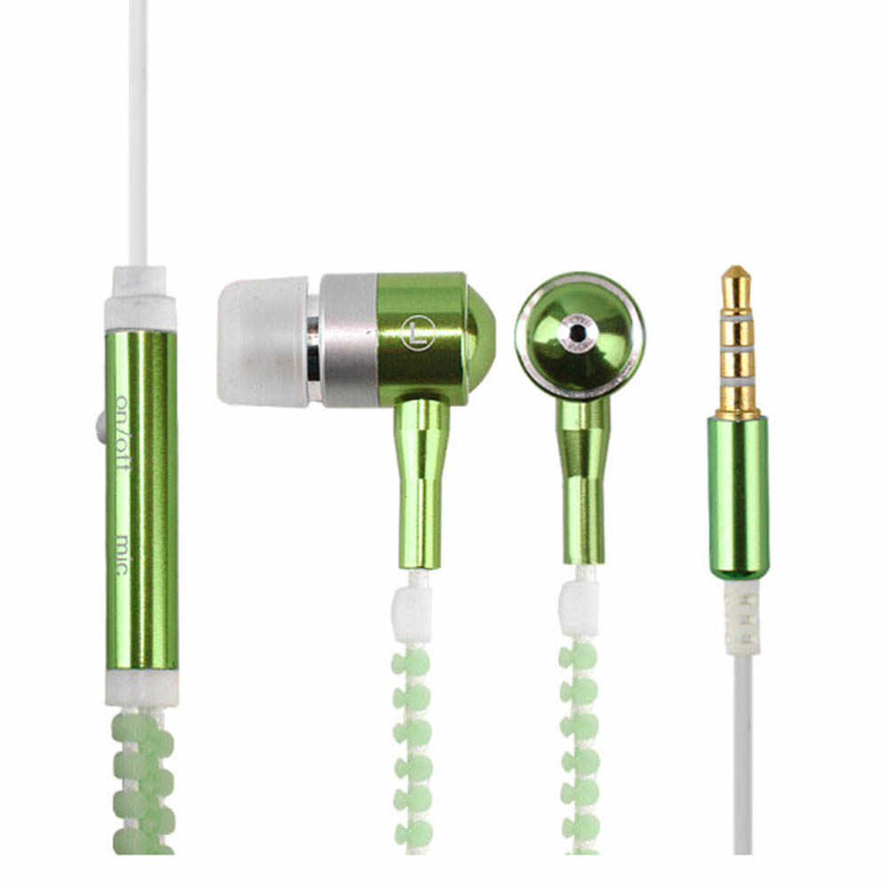 3.5mm douszne Stereo Luminous słuchawki świecące słuchawki nocne światło świecące słuchawki z mikrofonem douszne słuchawki sportowe Stereo z mikrofonem