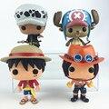 Funko POP One Piece Luffy Chopper Figuras de ação Ace Linda Mini-coleções Modelo Brinquedos Presentes Para As Crianças Com Nice Package # F