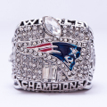 Wholesale 2001 Super Bowl New England Patriots Zinc Alloy silver plated Custom Sports Replica World Championship Ring for Fans