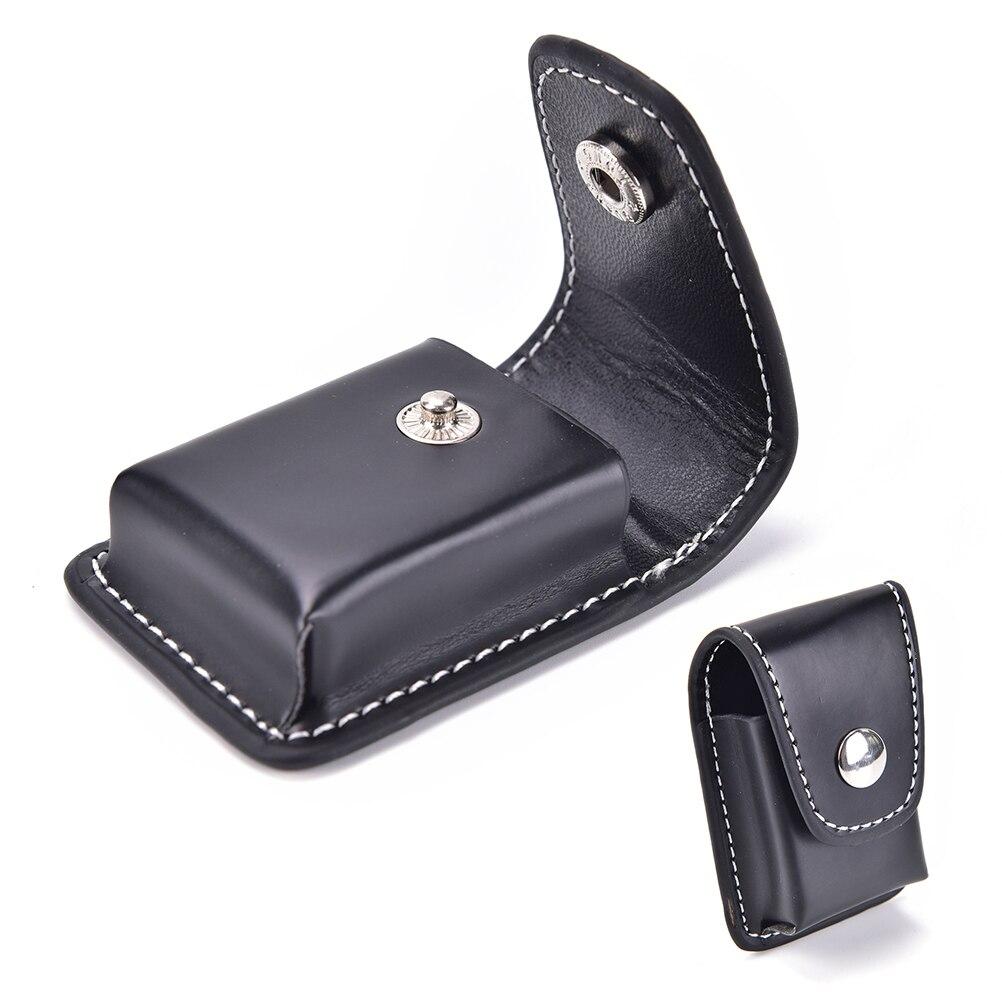 Hot New Zippo Lighter Men Cigarette Lighter Holder Bag Small BoxCase For  Zippo Super Match High Leather Cover Windproof Black