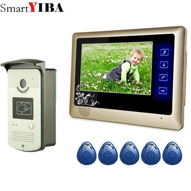 SmartYIBA ''Polegadas Monitor de Vídeo Porteiro Com