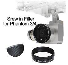 Parafuso em uv cpl nd4 nd8 nd16 ND2 400 filtro para dji fantasma 3 fantasma 4 zangão câmera lente polarizando densidade neutra peças de reposição