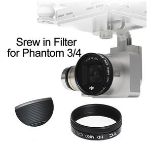 Image 1 - Parafuso em uv cpl nd4 nd8 nd16 ND2 400 filtro para dji fantasma 3 fantasma 4 zangão câmera lente polarizando densidade neutra peças de reposição