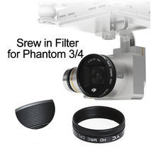 Schroef op UV CPL ND4 ND8 ND16 ND2 400 Filter voor DJI Phantom 3 Phantom 4 Drone Camera Lens Polariserende Neutrale dichtheid Onderdelen