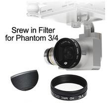Tornillo en filtro de ND2 400 UV CPL ND4 ND8 ND16 para DJI Phantom 3 Phantom 4, lente de cámara de Dron polarizador, piezas de repuesto de densidad neutra