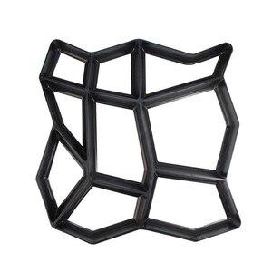 Image 2 - Plastique noir faisant bricolage moule de pavage maison jardin plancher route béton pas à pas allée pierre chemin moule Patio fabricant