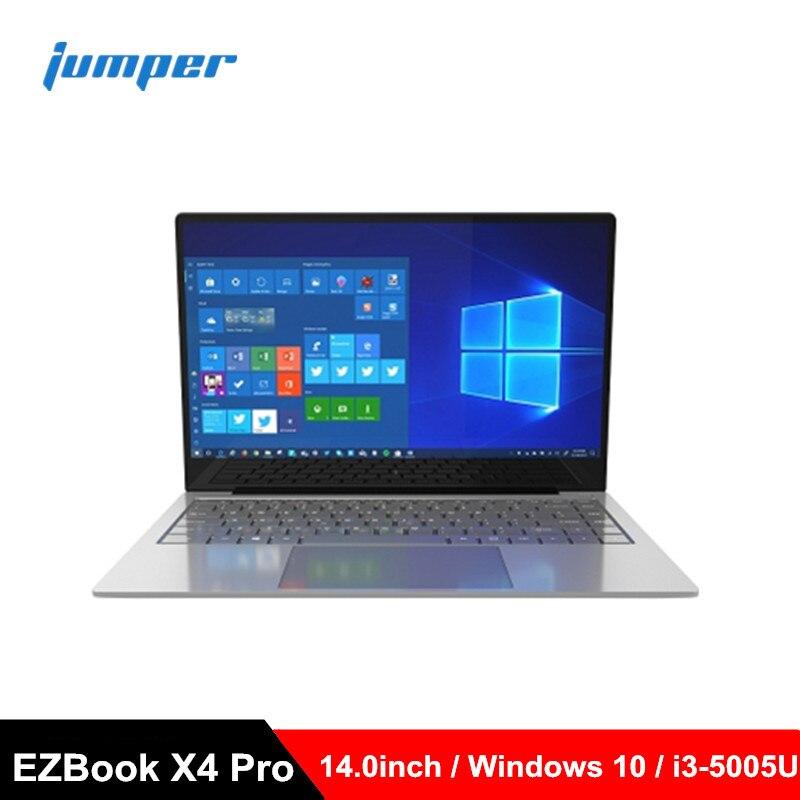 Jumper EZBook X4 Pro Laptops 14.0inch Windows 10 Notebook Intel Core I3-5005U Dual Core 8GB RAM 256GB SSD PC 2MP Camera Computer
