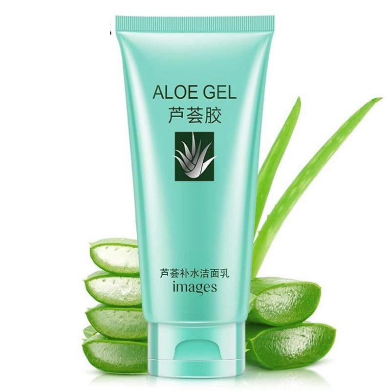 2018 Aloe Vera Acne Treatment Oil-control Deep Cleansing Facial Cleanser Foam Skin Repair Acne Treatment Whitening Nourishing