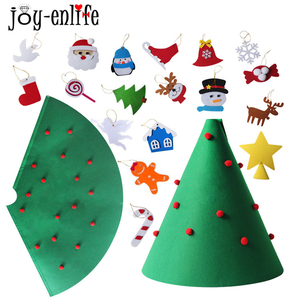 Toddlers Toy 3D Felt DIY Green Christmas Tree Kids Gifts ...