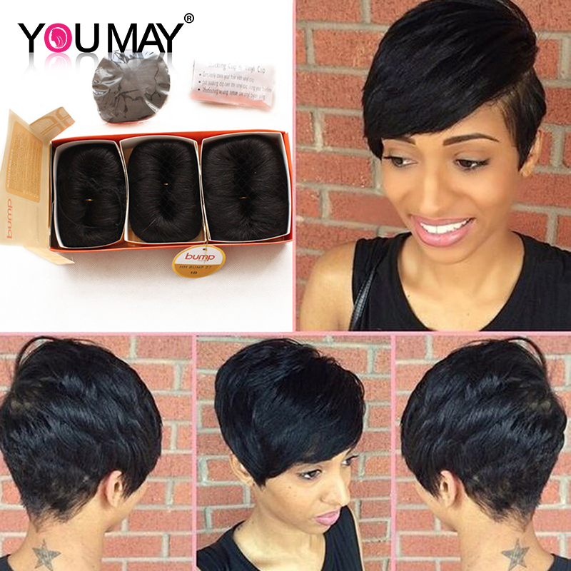Brazilian Virgin Hair 27 Pieces Short Human Hair Weave