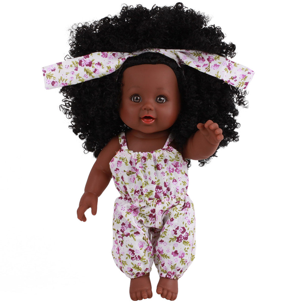 Black Girl Dolls African American Play Soft Reborn Baby Realistic Dolls Lifelike 12 inch Baby Play Dolls Fun Kids Toy Gifts