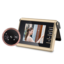 3 inch LED Door Viewer Peephole Door Bell Eye Doorbell Door Camera ZJA-D13 Auto Photo/Video Motion Detect With IR Night Vision