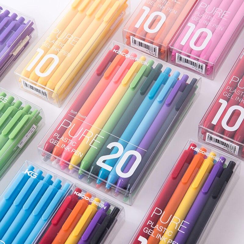 10pcs/lot 0.5mm Black Ink / Colored Gel Ink Pen School Office Writing Supplies Stationery10pcs/lot 0.5mm Black Ink / Colored Gel Ink Pen School Office Writing Supplies Stationery