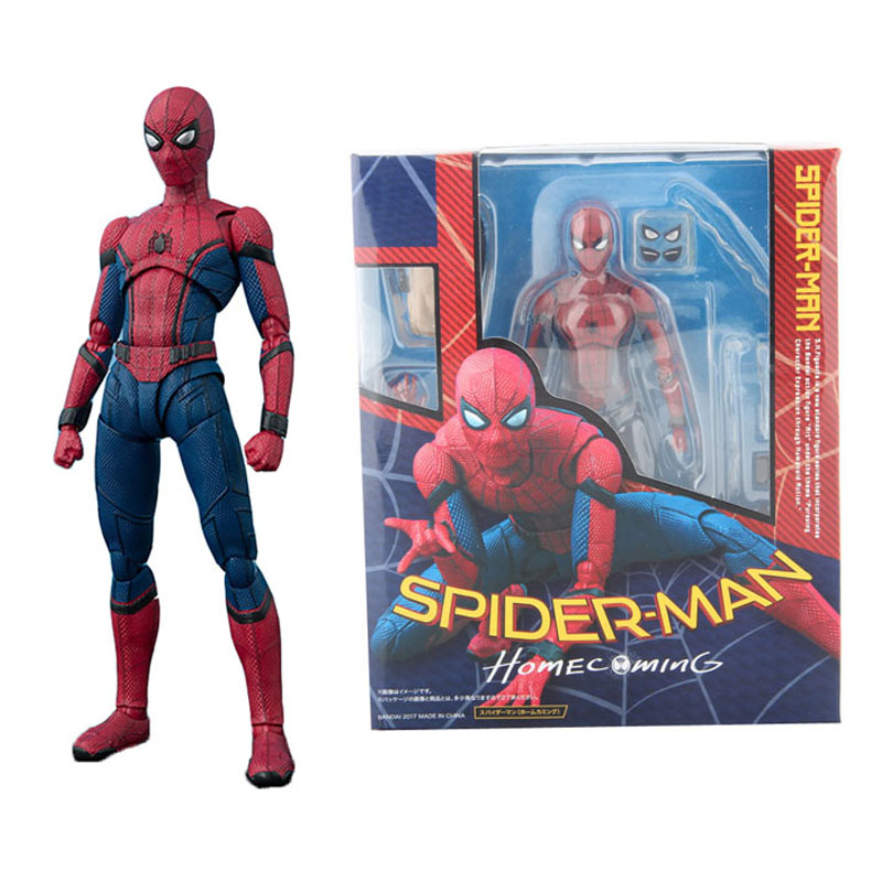 shf-font-b-marvel-b-font-avengers-super-hero-spiderman-action-figures-the-amazing-spider-man-homecoming-toys-with-retail-box-15cm