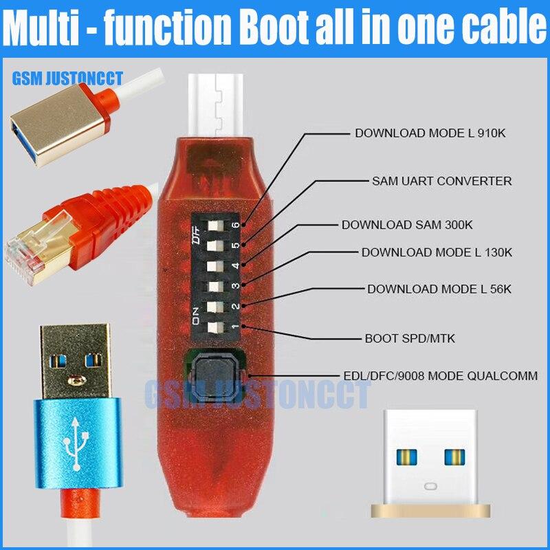 Todos de Cable (fácil de conmutación) Micro USB RJ45 todo en uno multifunción de arranque Cable EDI cable