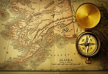 Laeacco Old Vintage Parchment Map Compass Photography Backgrounds Customized Photographic Backdrops For Photo Studio