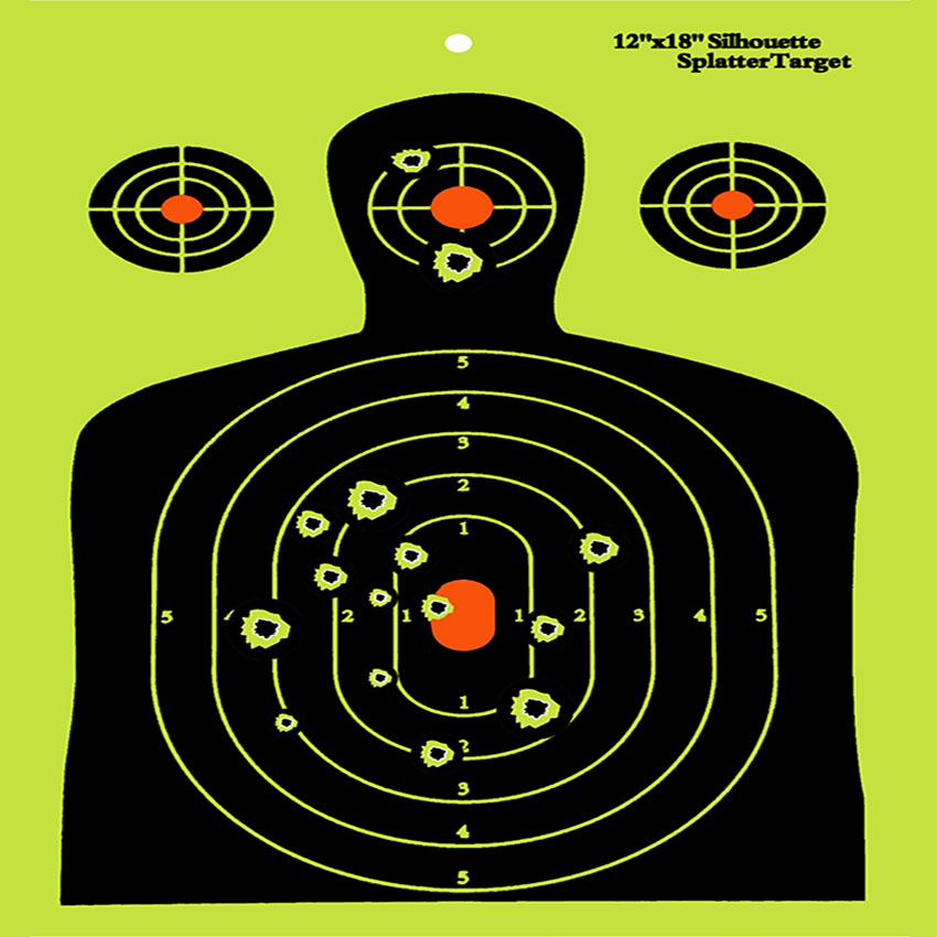 12*18 Special Paper Made Military Shooting Target-Easy to see whether you Hit the target with the Bright color pack of 50