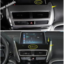 Lapetus Dashboard Navigation GPS Multimedia Frame Cover Accessories Interior Trim Fit For Mitsubishi Eclipse Cross 2018 2019 ABS lapetus front head lights headlight switches button cover trim abs fit for mitsubishi eclipse cross 2018 2019