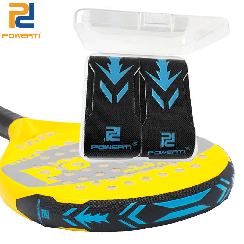 Powerti 2pcs/lot 3D Cricket Grip Beach Rackets Paddle Cricket Bat Bottom Protection Beating Against the Grid or the Wall Sport