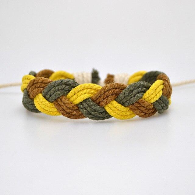 Plaited Cord Rasta Bracelet