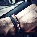 Pulseiras homens jóias titanium aço pulseira gravada em longitude e latitude dgital amantes pulseira de aço inoxidável