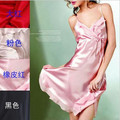 Wire mulberry silk nightgown suspender skirt adjustable