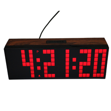 large display Led digital alarm clock countdown timer clock with temperature date 3 inch high big numerals easy to read