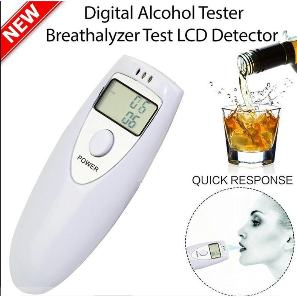 CARCHET Alcohol Tester Digitale Portable LCD Alcohol Tester Breath Breathalyzer Breathalizer Detector jfbl 2x capacimetro digitale tester capacita misuratore 5 cifre