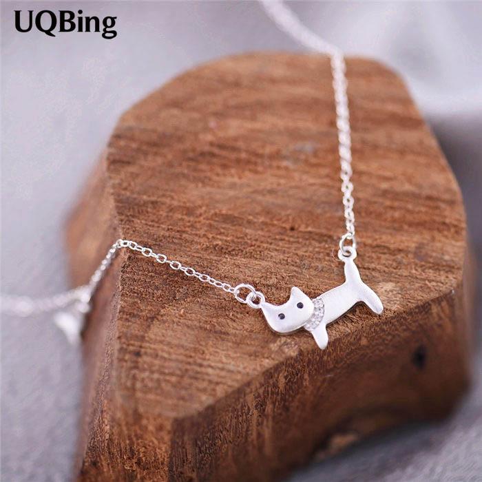 Dostava 925 srebrne ogrlice i privjesci, srebrne ogrlice od mačaka, - Modni nakit - Foto 1