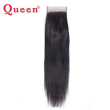 Queen Hair Company Peruvian Straight Closure Remy Hair 8-20inch Natural Color Free Part Human Hair Lace Closure Free Shipping