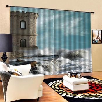 3D formato Su Misura a prova di suono tenda Scenic soggiorno camera da letto tende foto 3d