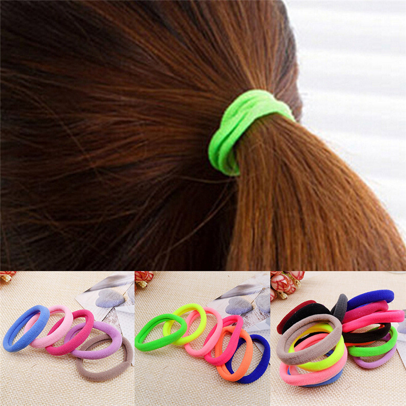 Intelligent Cheap Price 1pcs Elastic Hair Bands Candy Color Kids Elastic Hair Rope Ponytail Band Ties Girls Hair Accessories Hairband Bands Selected Material Girl's Accessories