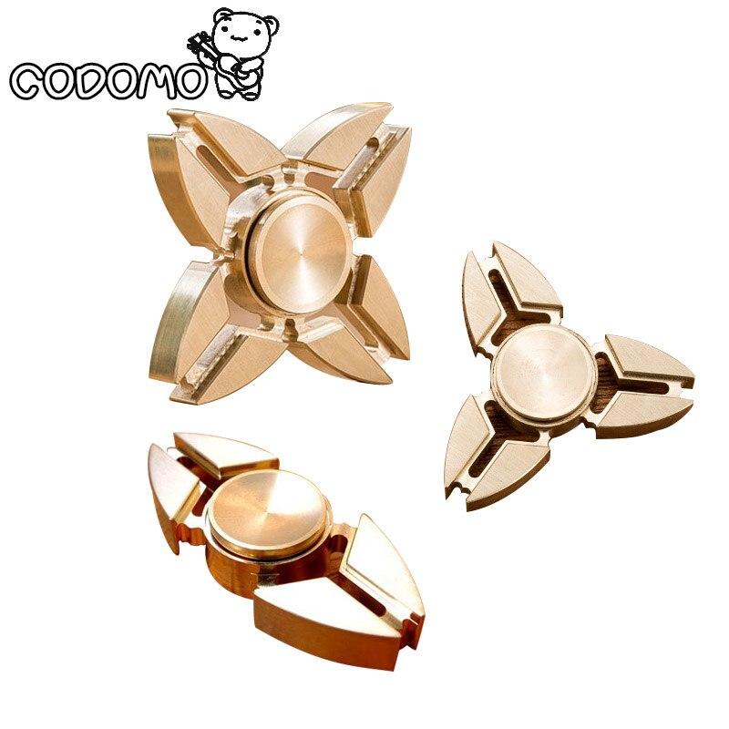 Brass Fidget Hand Tri Spinner Toys Metal For Adult 2017 New Spinner Hand Fidget Toys Finger