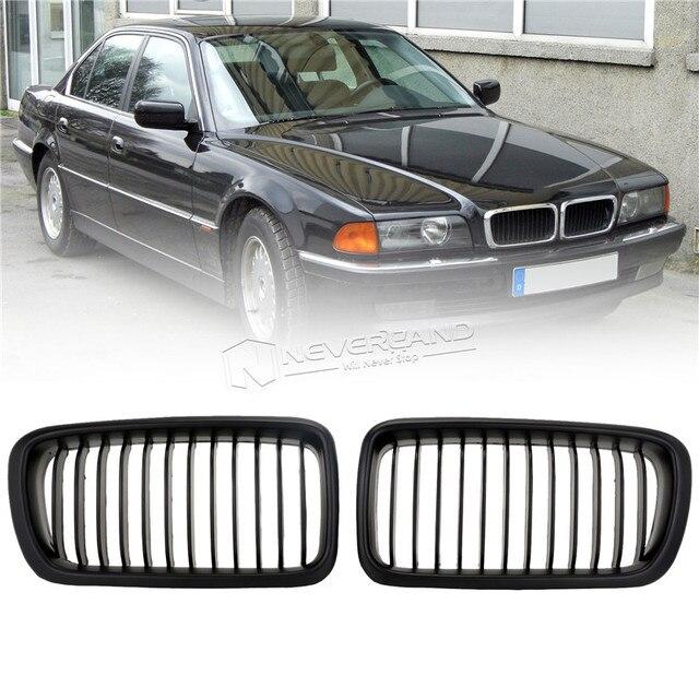 Pair Matte Black Front Kidney Grilles Grill For BMW E - Bmw 4 door sedan