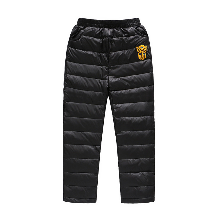 Kids Boys/Girls Winter Down Trousers Fashion Warm Pants Children Thicken Windproof Pants Warm Cotton Clothes Full Down Pants