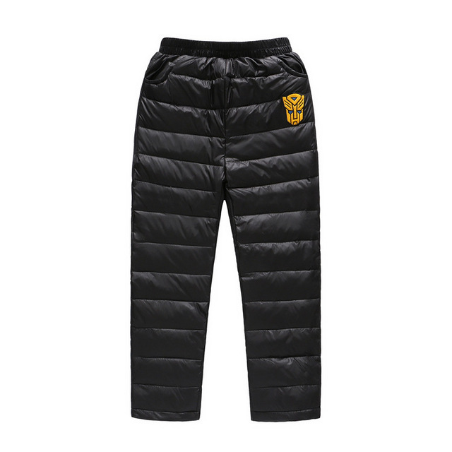 42edd2e5d Kids Boys Girls Winter Down Trousers Fashion Warm Pants Children ...