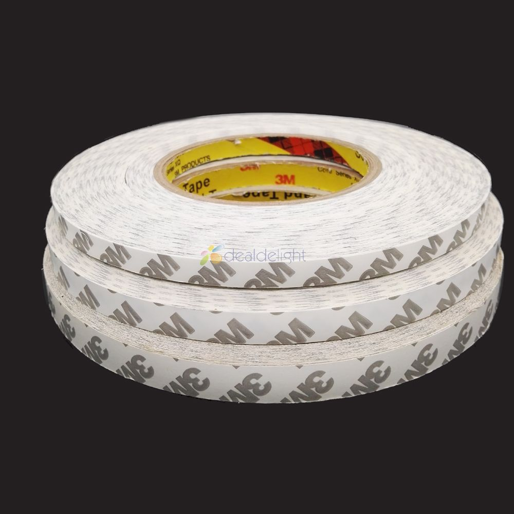 8mm 10mm 12mm Double Sided Tape 3M Adhesive Tape Width for 5630 5050 Led strips, LCD scr ...