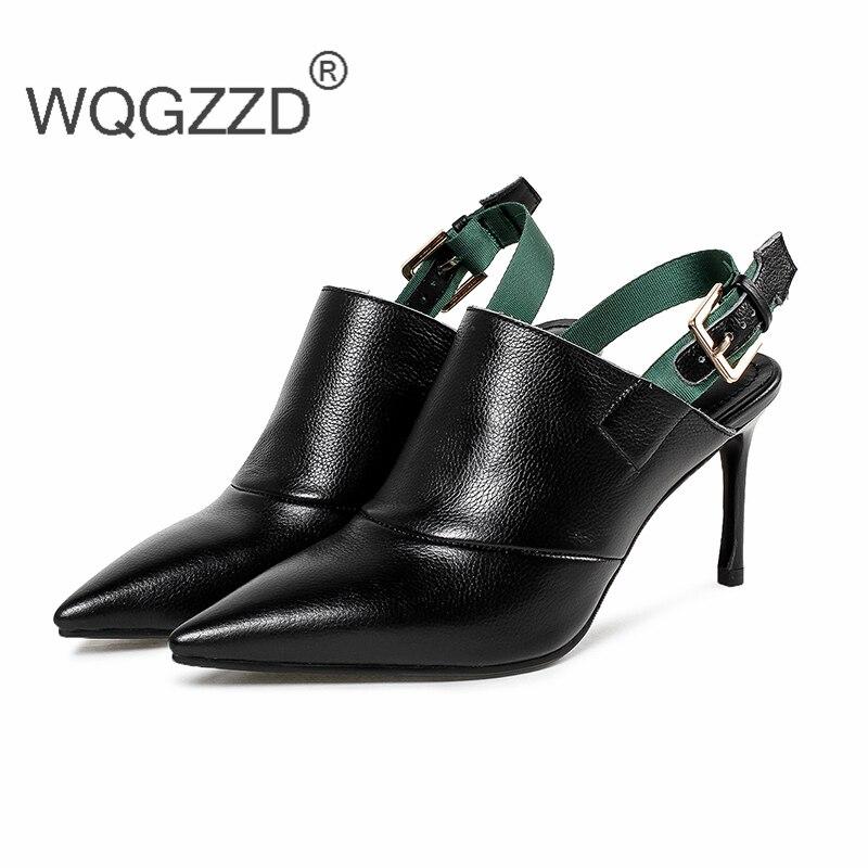 Frauen Echtem Hohen Femme Chaussures Lederband Absätzen Black 2018 Aus Neue Gladiator Schuhe Sandalen Mode white Mit creamy wqO78X7t