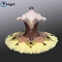 Gold Nutcracker Ballet Cosutmes Women Ballet Tutu Kids Pancake Tutu Toddler Girl Dance BT9084