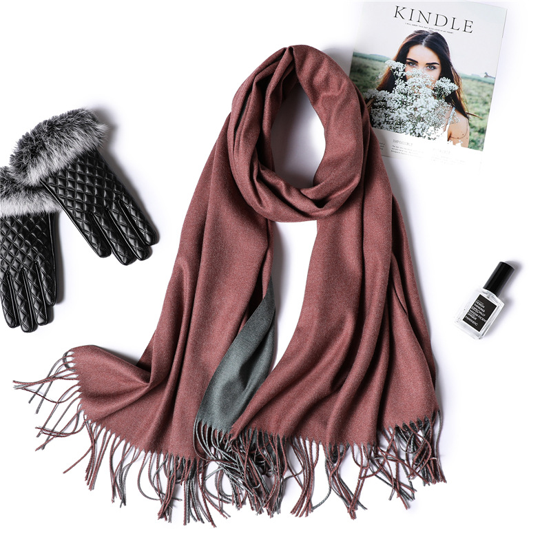 Neue 2018 winter frauen schal mode feste weichen kaschmir schals für damen schals und wraps bandana weiblich foulard Quaste