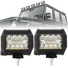 2 шт./пара светодиодный вождения Подсветка Наводнение Спот 200 W комбо Дополнительная лампа для автомобиля грузовик 6000 K освещения