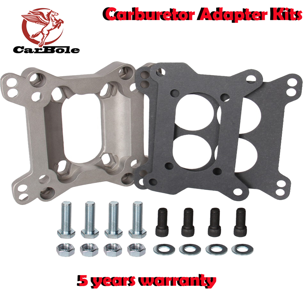 CARBOLE Kits 1933 Carburetor Adapter, Open Center, Square Bore Carburetor, 2-Barrel Manifold, 1.00 in. Thick, Kit