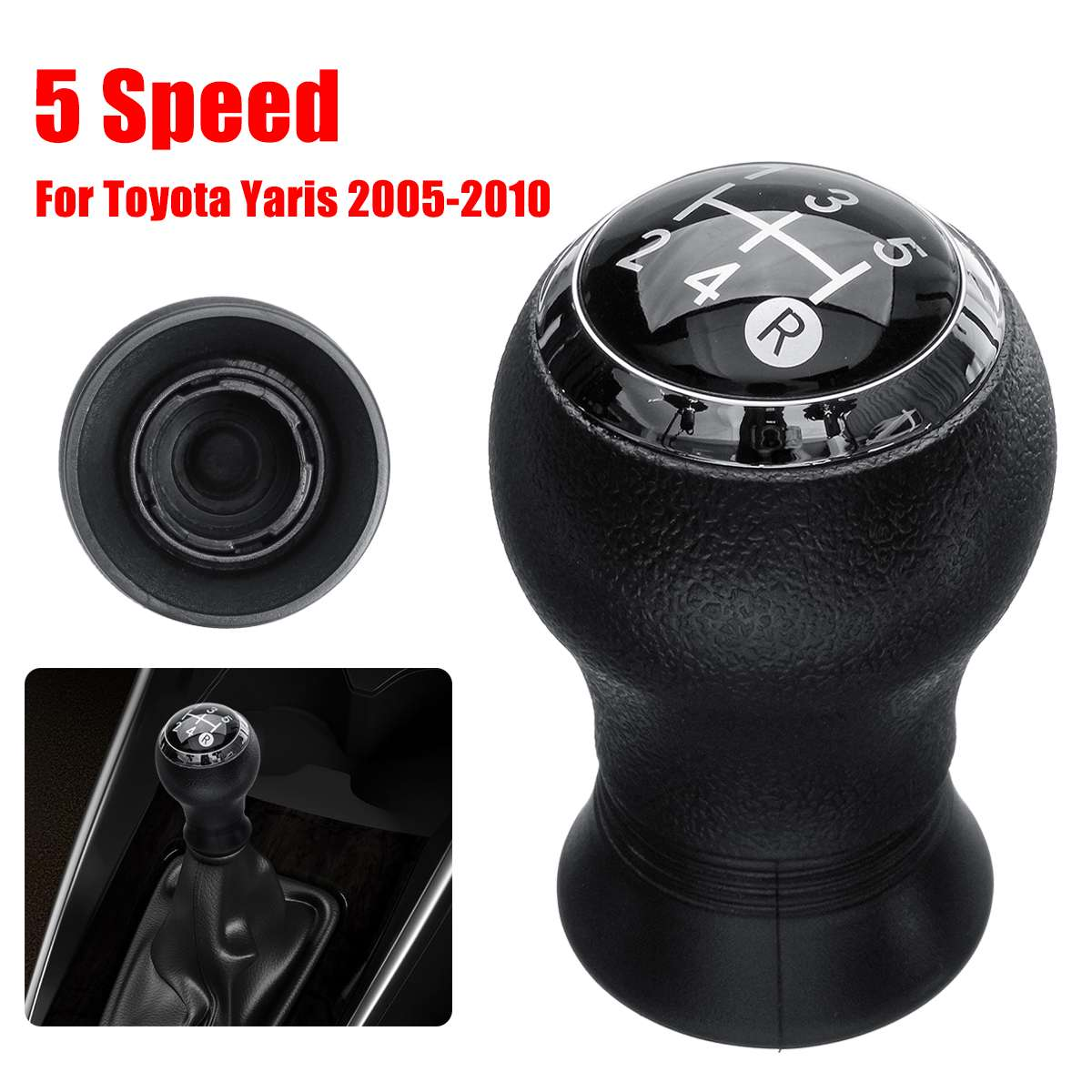 Image 2 - 5 Speed Car Manual Gear Shift Knob Head Gearstick Shifter Lever For Toyota Yaris Auris 2005 2006 2007 2008 2009 2010-in Gear Shift Knob from Automobiles & Motorcycles