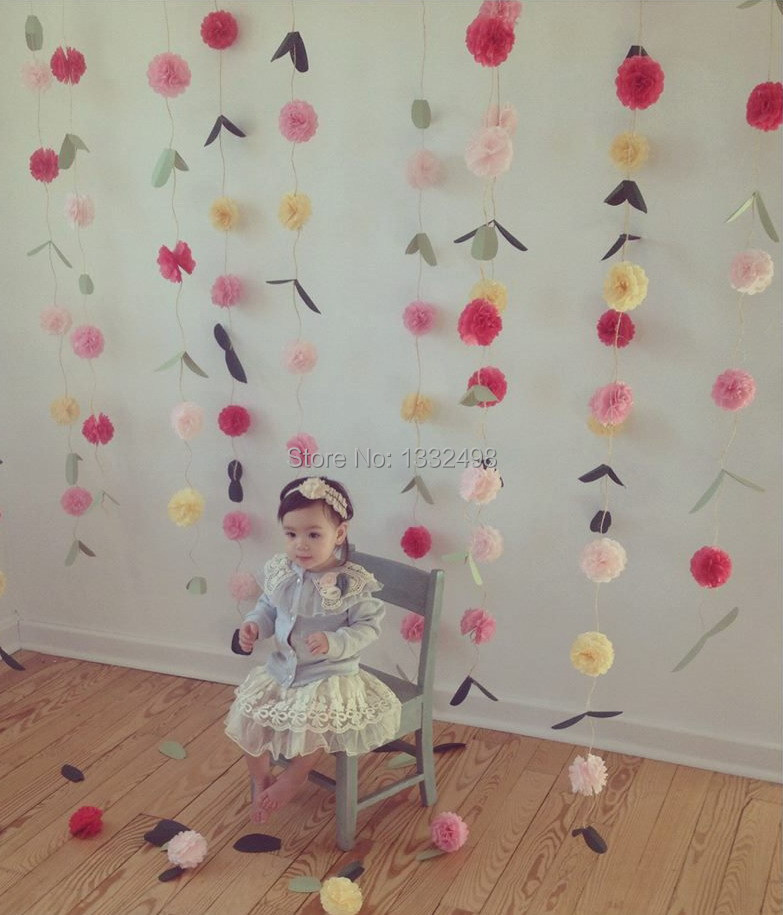 Hot 4 10cm tissue paper pom poms artificial flowers diy paper hot 4 10cm tissue paper pom poms artificial flowers diy paper flowers for wedding baby shower party decorations 300 pcs lot in artificial dried mightylinksfo