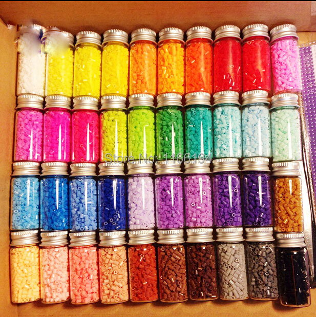 600pcs/bottle 2.6MM HIGHGRADE Hama Beads PUPUKOU Beads Variety Of Colors Foodgrade Hama Fuse Beads Free Shipping PUPUKOU