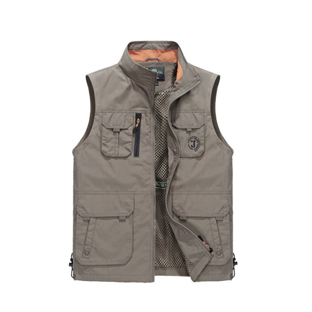2018 Spring Autumn Casual Waterproof Man Vest Multi-pocket Outwear Man Waistcoat